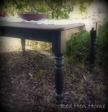 black farmhouse table