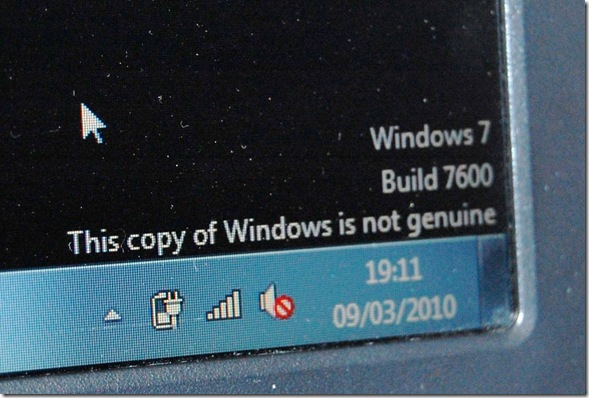 Windows not genuine!