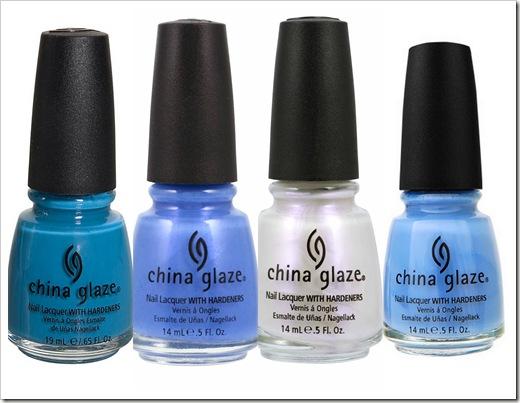 china glaze- כחול לבן . צילום דיוויד שין