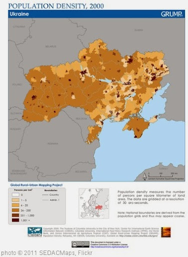 'Ukraine: Population Density, 2000' photo (c) 2011, SEDACMaps - license: http://creativecommons.org/licenses/by/2.0/