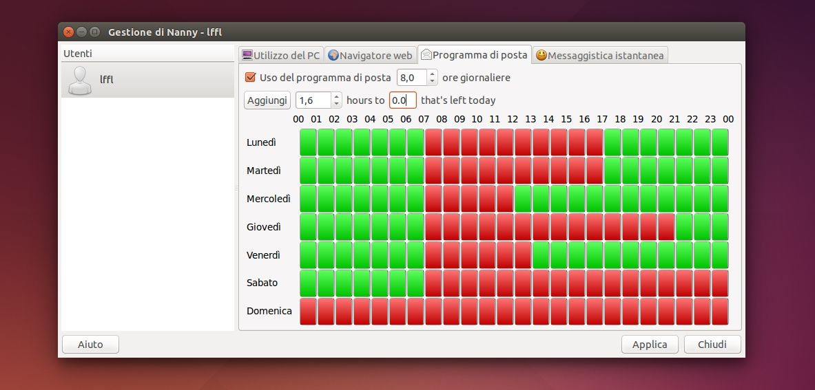 Nanny in Ubuntu