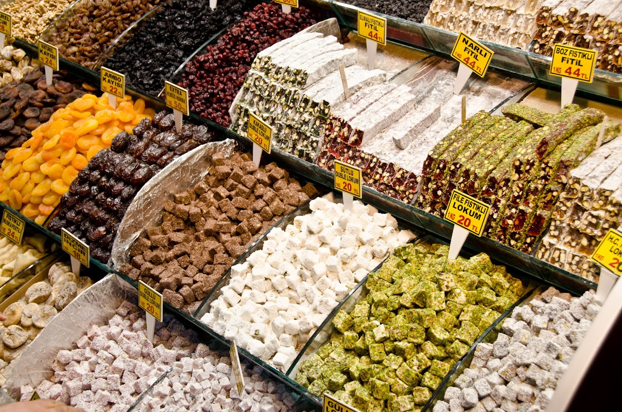 Nuts and fruit at the Spice Bazaar