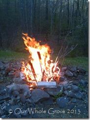 center flame