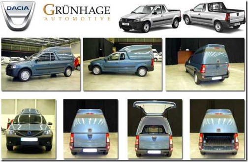 Dacia Pick-Up Polyesteropbouw