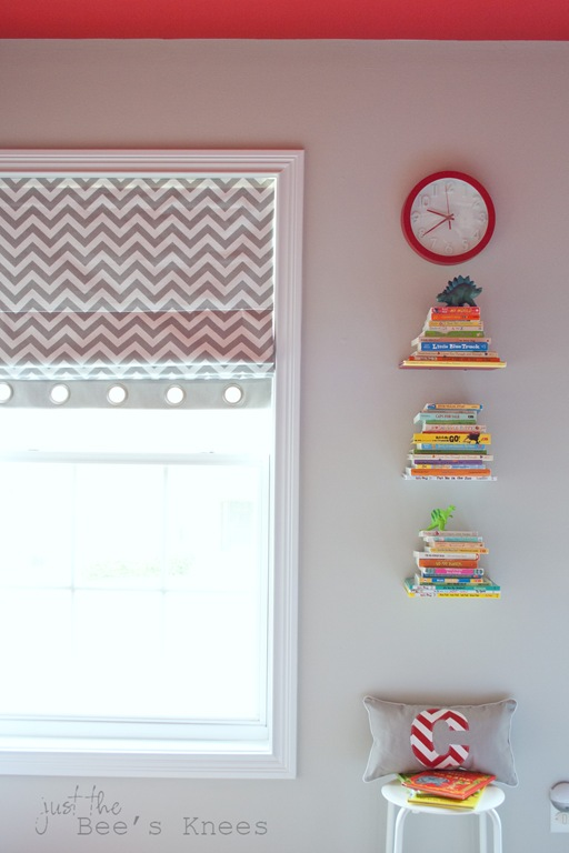 Chevron roman blinds from Just The Bee's Knees