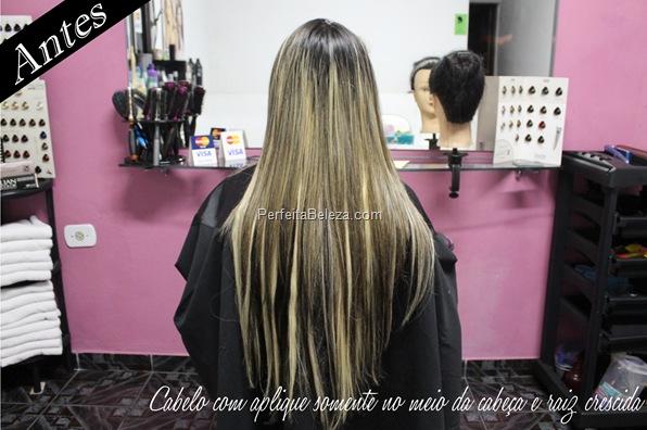 cabelo com aplique