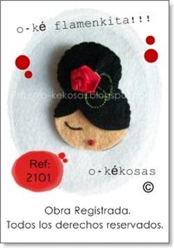 o-ke flamenkita morena flor roja