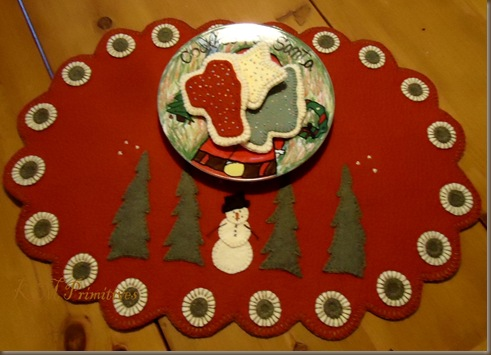 Snowman and trees mat