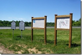 Signs on right, additional information about Battle of Front Royal, VA