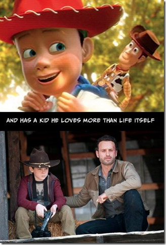 Walking Dead v Toy Story 3