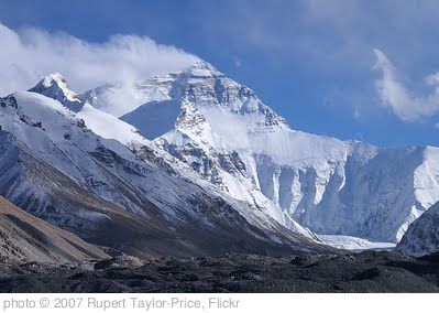 'Mount Everest from base camp one' photo (c) 2007, Rupert Taylor-Price - license: http://creativecommons.org/licenses/by/2.0/