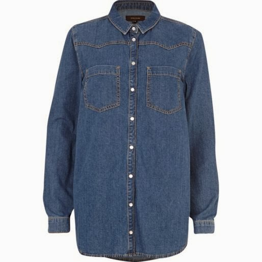 River Island Oversized Denim Shirt