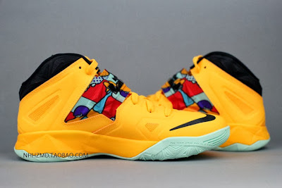 nike zoom soldier 7 gr yellow pop art 4 08 Nike Soldier VII Coconut Groove aka Pop Art available at Eastbay