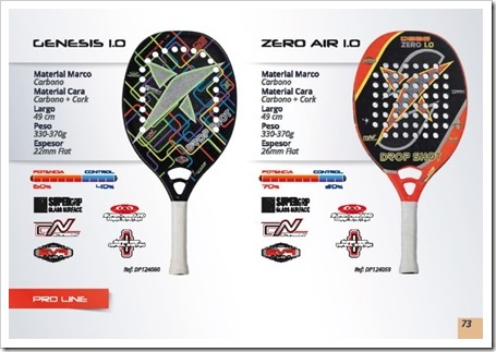 DS Beach Tennis / Tenis Playa 2015 / modelos genesis 1.0 y zero air 1.0