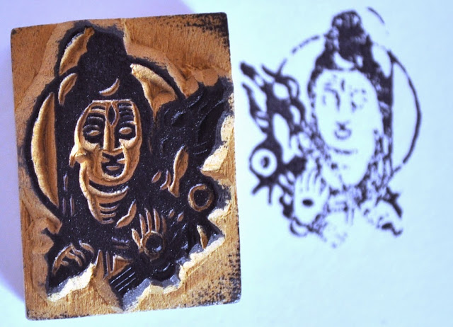 Wooden Block Shiva Stamp