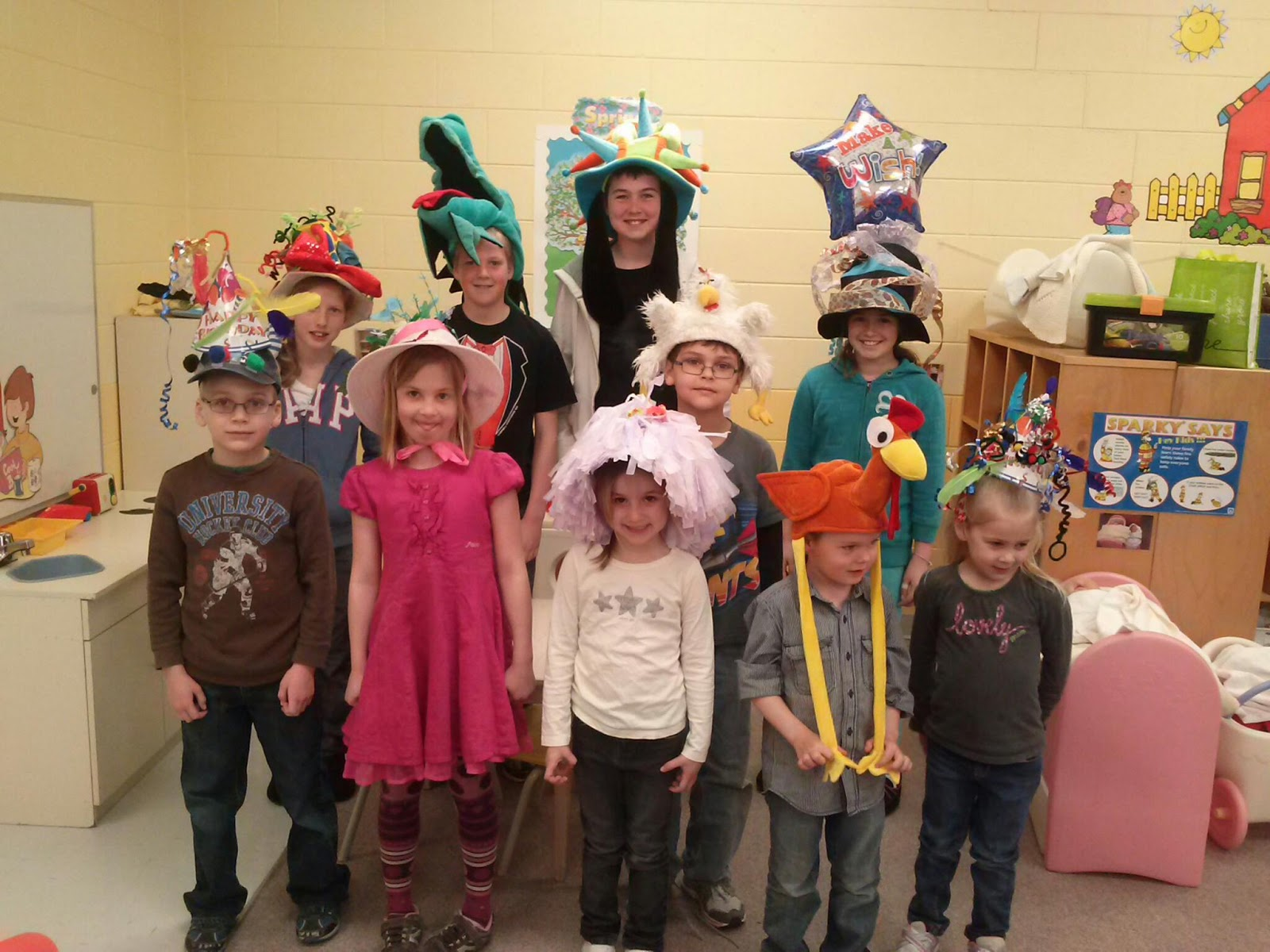Easy Crazy Hat Day Ideas Our jk crazy hat champs.