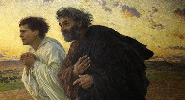 Burnand  Peter and John Running to the Tomb