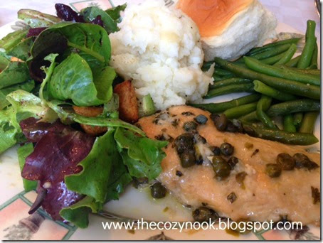 Chicken Piccata - The Cozy Nook