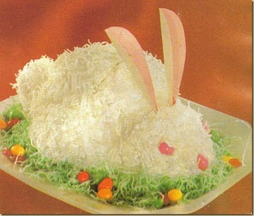 bunny cake closeup