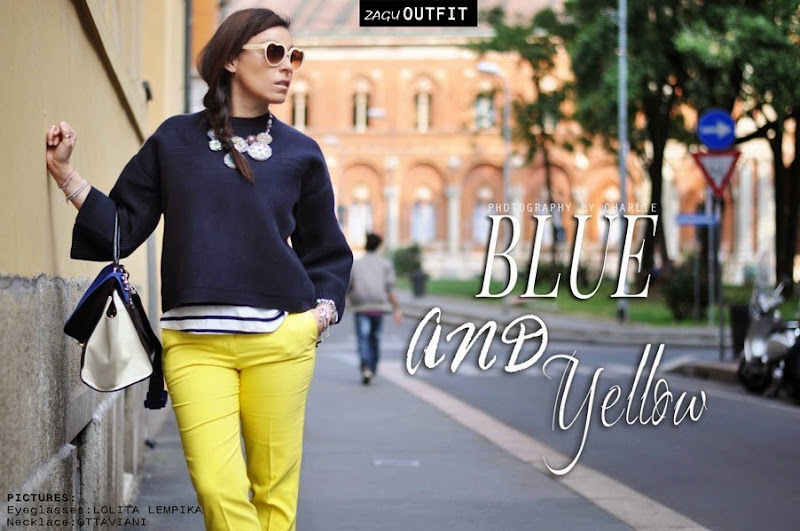 OUTFIT: Blue and Yellow