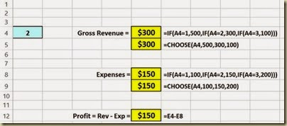Scenario Analysis in Excel - Scenario Formulas