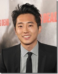 "Actor Steven Yeun attends the AMC premiere of ""The Walking Dead"""