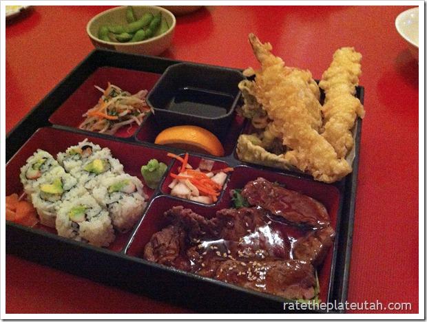 Meiko Sushi Teriyaki Beef California Roll Tempura Dinner