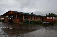 Braeburn Lodge in the rain