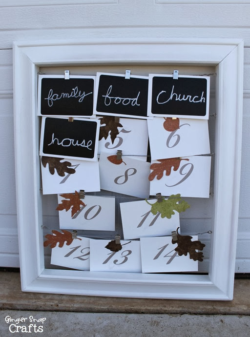 Thanksgiving Countdown at GingerSnapCrafts.com