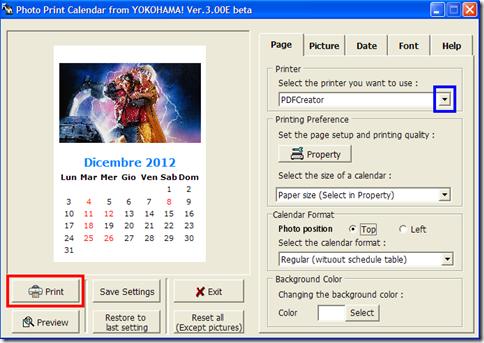 Photo Print Calendar stampare calendario