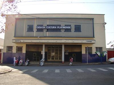 Fachada  da Casa da cultura platinense . Foto Antônio de Picolli (2010)