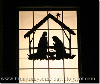Window Nativity Silhouette 1