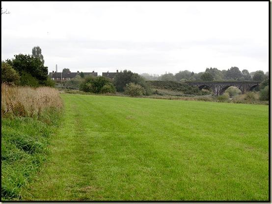 Meadow land beside Glaze Brook