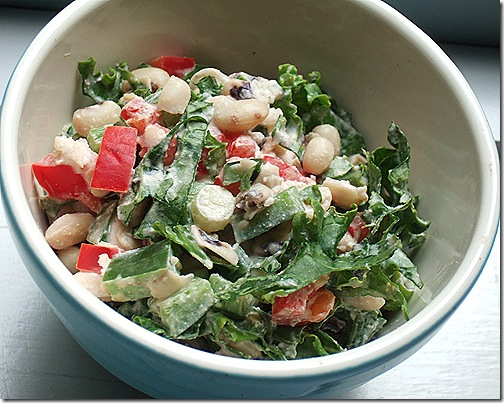 bean and kale salad 005