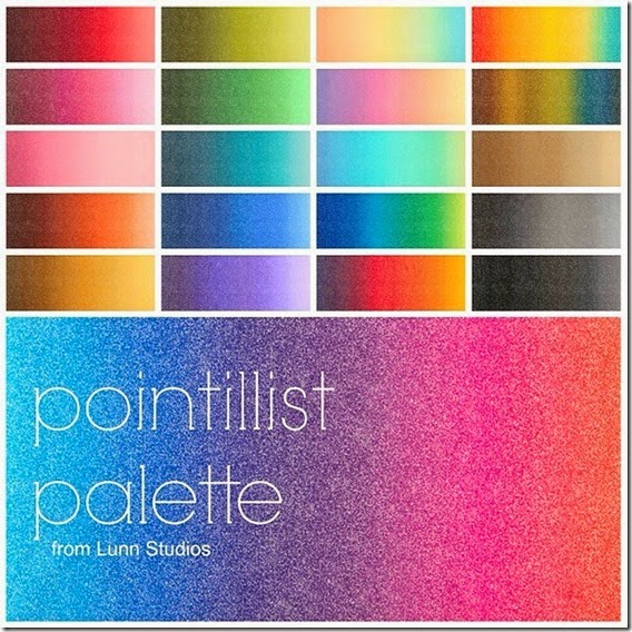 Pointillist palette  picture edited