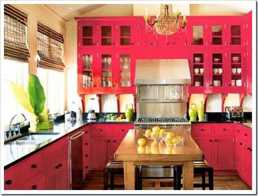 Pink-painted-kitchen-cabinets-450x337