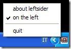 LeftSider menu di gestione