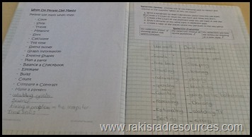 How I am using interactive math notebooks or interactive math journals to keep my students organized in my mixed age classroom in Casablanca, Morocco.  from Heidi Raki of Raki's Rad Resources