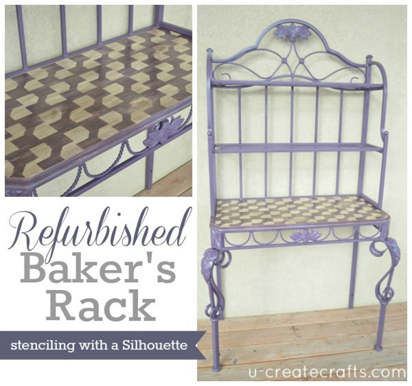 Refurbished Baker's Rack Tutorial at u-createcrafts.com