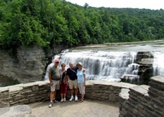 Four Of Us At Middle Falls