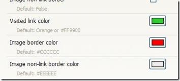 Opzioni Visited addon Firefox