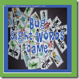 1st Grade Bug Sight Word Game