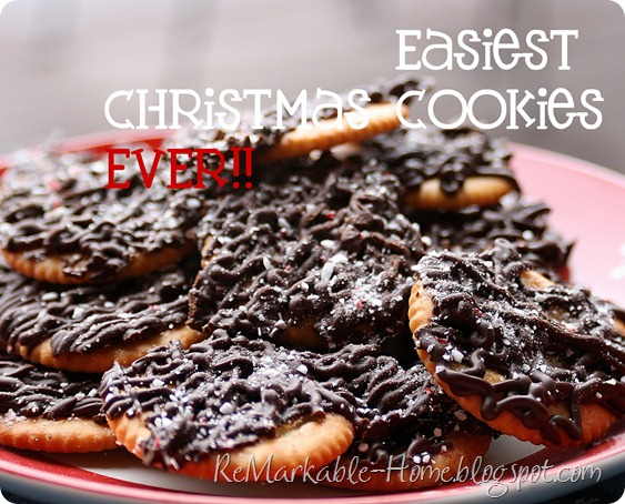 Easiest Christmas Cookies EVER! Quick Thin Mints.  no bake!