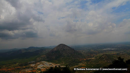 View of Skandagiri Hills from Chandrayana Betta