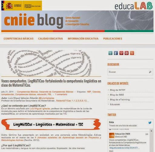 LingMáTICas en sitio web CNIIE