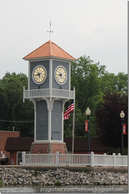 Portage Lakes clock tower