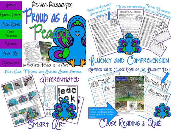 Spring Fluency Packet- social studies and science themed- fluency art writing and quizzes