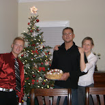 with the christmas tree in Oakville, Ontario, Canada