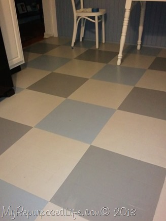 Painting a kitchen floor for Floor paint for vinyl floors