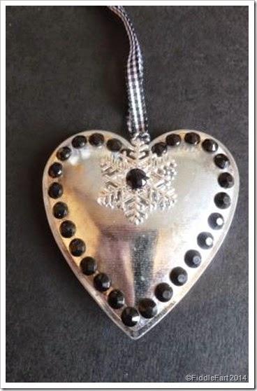 snowflake heart decoration. tag